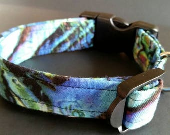 Puppy collar, small dog collar, medium dog collar, natural wonders fabric, contact me for other sizes