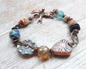 Pottery Beaded Bracelet