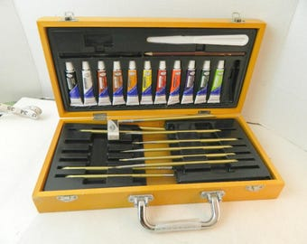 royal langnickel acrylic paint set with brushes erasers sold AS IS
