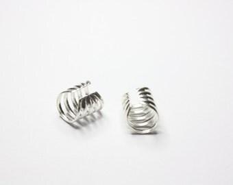 Silver Spiral Ear Cuffs, Sterling Silver Ear Cuffs, Made to Order
