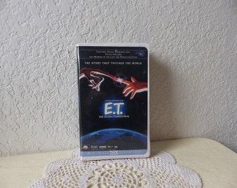 E. T.  VHS Tape in White Clamshell Case, 1980s.