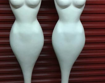 Rare 60s PUCCI Mermaid Tulip Base Mannequins, Set of 2, Bombshell Shape, Vintage Clothing, Mid Century Sculpture