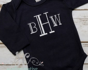 Baby Boy Bodysuit - Newborn Coming Home Outfit - Custom Baby Clothes - Boy Clothes - Bodysuit Beanie
