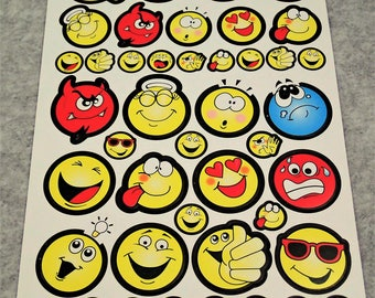 Assorted Mixed Funny Smiley Faces Stickers