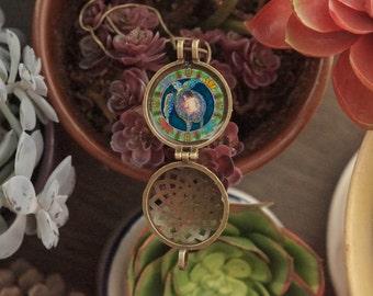 Precious Human Birth Art Aromatherapy Locket - Goddess, midwifery, doula, motherhood