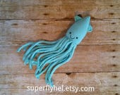 Squid Plush, Cephalopod Stuffed Animal, Squid Stuffed Animal Plushie, Sea Creature Squid Plushy, Squid Amigurumi Animal, Nautical Decor
