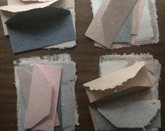 Stationery Sets - Variety Collection - 5 Envelopes & 10 Handmade Paper Sheets