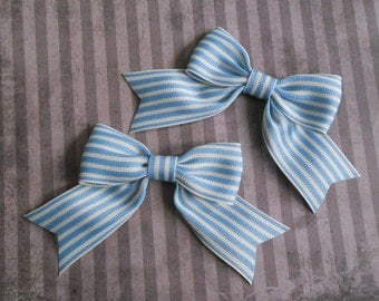 small ribbon hair bow set sweet Lolita fairy kei stripes