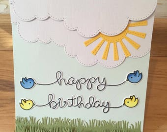 A birthday card with copic markers