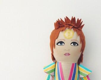 David Bowie doll - Starman - Ziggy Stardust - Bowie doll - David Bowie