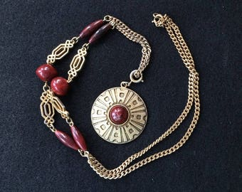 Sarah Coventry Safari Necklace and Pendant