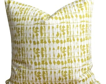 Accent Pillow Cover, 18x18 Pillow Sham, Pillowcase, Throw Pillow Cover, Cotton Pillow, Cushion Cover - Tie-dye Beads Chartreuse