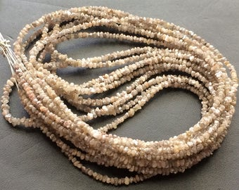 16 Inch Light Brown Rough Diamond Chip Beads, 2-3mm Light Brown Raw Diamond, Raw Uncut Diamond Beads - DS3607