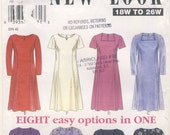New Look 6819   8 Easy Options  Woman's Plus Size Dress  Multi Size Pattern 18W  20W  22W 24W  26W