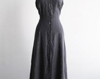 90s/Sleeveless/Polka Dot/Maxi Dress