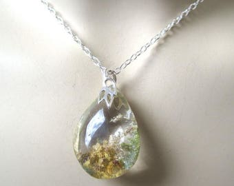 Lodolite Pendant  Sterling Silver Necklace
