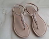 Ivory Wedding Sandals Sparkling Crystals Ivory Bridal Sandals Destination Wedding Sandals Beach Wedding Sandals Beach Wedding Shoes