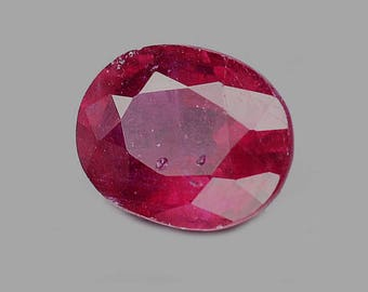 RUBY (34164) * * * * Intense Red 9 x 7mm Blood Red Ruby - Oval