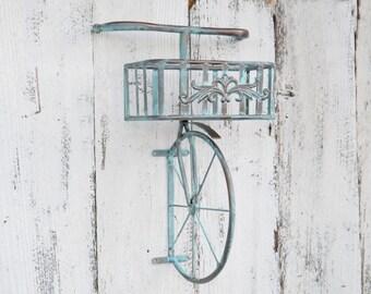 Metal Bicycle Wall Decor bicycle shelf | etsy