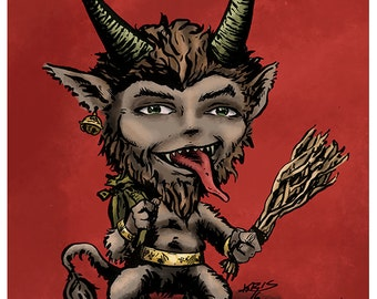 Krampus DapperKins Holiday Card - Krampus and Cthulhu's Christmas Collection 2016