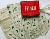 Vintage FLINCH Card Game 1938 Complete 150 Cards Clean Flat, Box Original Instructions Parker Bros Game Table Number Cards Wedding Supplies