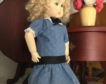 Bleuette doll school dress
