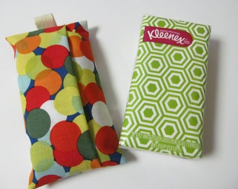 Tissue Case/Multi Color Dots