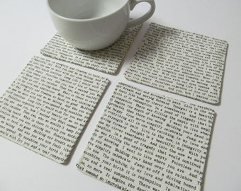Set Of 4 Fabric Coasters/Letter