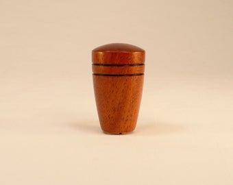 "Wood Lamp Finial Mahogany Dome Pattern 1, 1.75"" tall x 1.1"" dia"