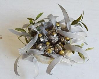Mercury Glass Ornament, Glass Heart Ornament, Heart Christmas Ornament, Mercury Heart Ornament, Holiday Sparkle, Vintage Christmas