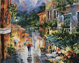NEW UNOPENED Russian Counted Cross Stitch Kit RTO M431 The evening city. Landscape