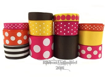 24 Yds BANANA SPLIT wholesale grosgrain ribbon collection   Low Shipping Cost