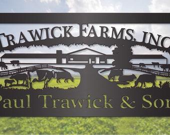 Dairy Cattle Farming Steel Sign LMW-16-81
