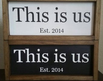 This Is Us, Established Family Wood Sign, Est. Date Sign, Farmhouse Decor