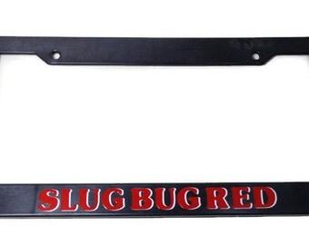 Slug Bug Red License Plate Frame