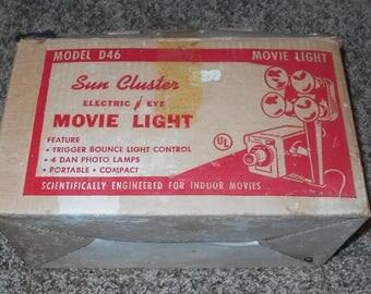 Sun Cluster Movie Light - Model D46 - Vintage