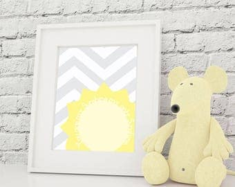 You Are My Sunshine 8x10 Nursery Art Print