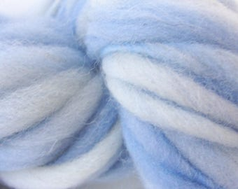 Handspun Chunky Bulky Yarn, Hand Painted  Thick and Thin, Wool yarn, Photo Prop, Baby Bump Blanket,  Doll hair, Slub Yarn, Thistle 50 yards