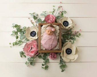 "Digital Backdrop-""You're the Peony to my Anemone""- Newborn Prop"