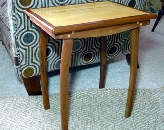 Walnut Maple Side Table Custom Crafted Contemporary Furniture