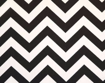 Custom Ironing Board Cover Black and White CHEVRON Zig Zag
