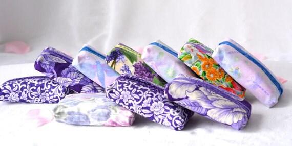 Purple Party Favor Set of 10... Kleenex Pocket Tissue Holders, 10 Handmade Girl Birthday Party Favors, Office Gifts, Easter Basket Filler