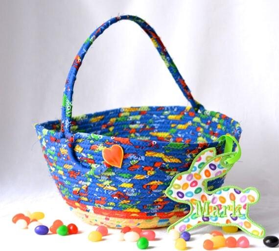 Boy Easter Basket, Handmade Easter Bucket, Lego Storage Basket, Boy Room Storage Organizer, Easter Decoration, Easter Egg Hunt Bucket