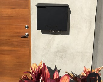 Custom House Number Mailbox No. 1711 Wrap-Front in Powder Coated Aluminum Icon Edition