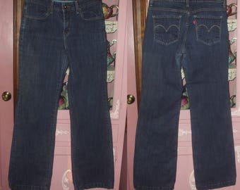 "Vintage Levi Jeans Women's Size 8 Bootcut Boot Cut Flare Inseam 31"" 1990's Red Tag The Original Jean Stretch Blue Jeans"