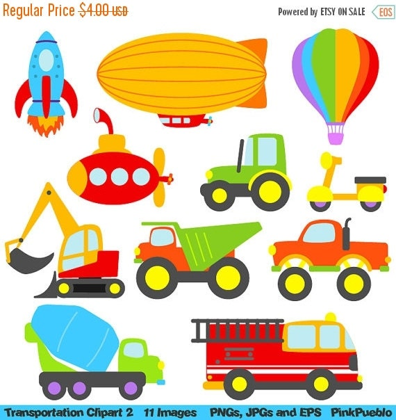 HALLOWEEN SALE Transportation 2 Clipart Clip Art, Construction Clipart Clip Art - Commercial and Personal Use