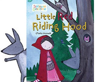 Little Red Riding Hood Big Bad Wolf Illustrated by Andrea Doss Childrens Kid Book Gift for Babies Cute Whimsical Baby Storybook Fairy Tale