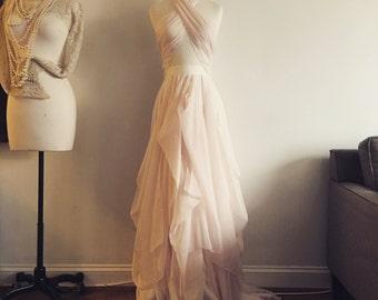 Alice in Wonderland-Custom wedding skirt-Chiffon wedding skirt-Blush wedding skirt-nude bridal skirt-wedding skirt