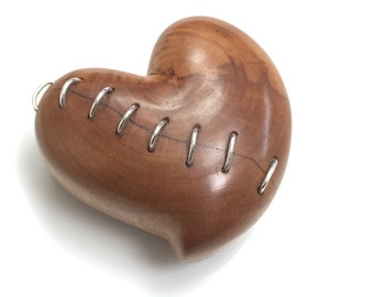 """Hand Carved Wood Ring Box by JeanineDesigns, """"Mended"""""""
