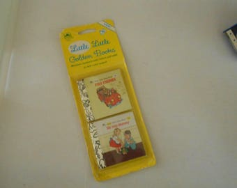 miniature Golden Books new in package 2 books We Help Mommy Fire Engines